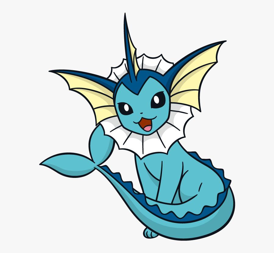 Transparent Evolution Clipart - Pokemon Vaporeon Png, Transparent Clipart