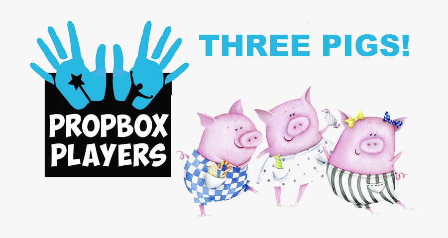 The 3 Little Pigs - Three Pigs Happy Birthday, Transparent Clipart