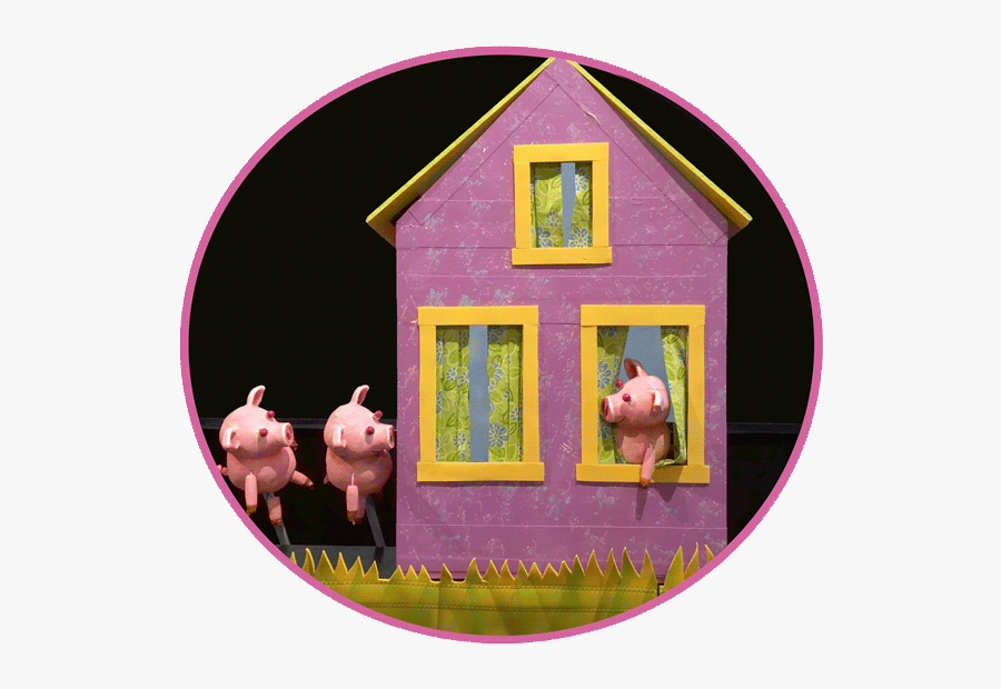 The Three Little Pigs - Three Little Pigs Puppet Stage, Transparent Clipart
