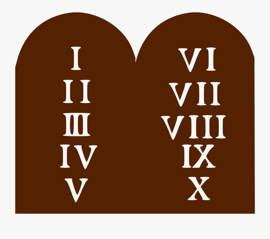 Ten Commandments - Ten Commandments Logo, Transparent Clipart