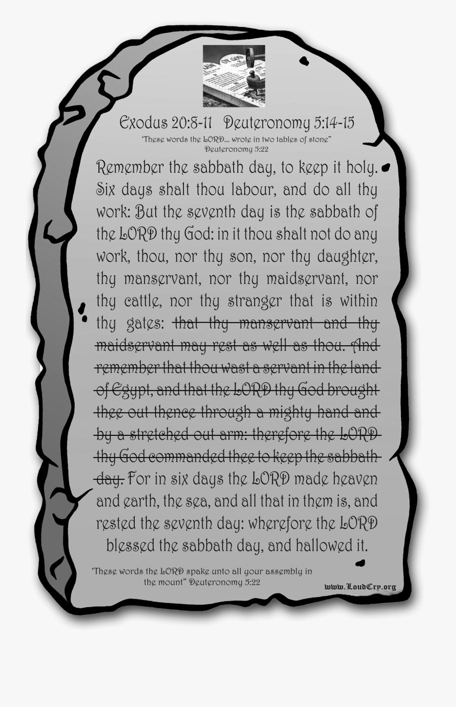 Ten Commandments Of Food, Transparent Clipart