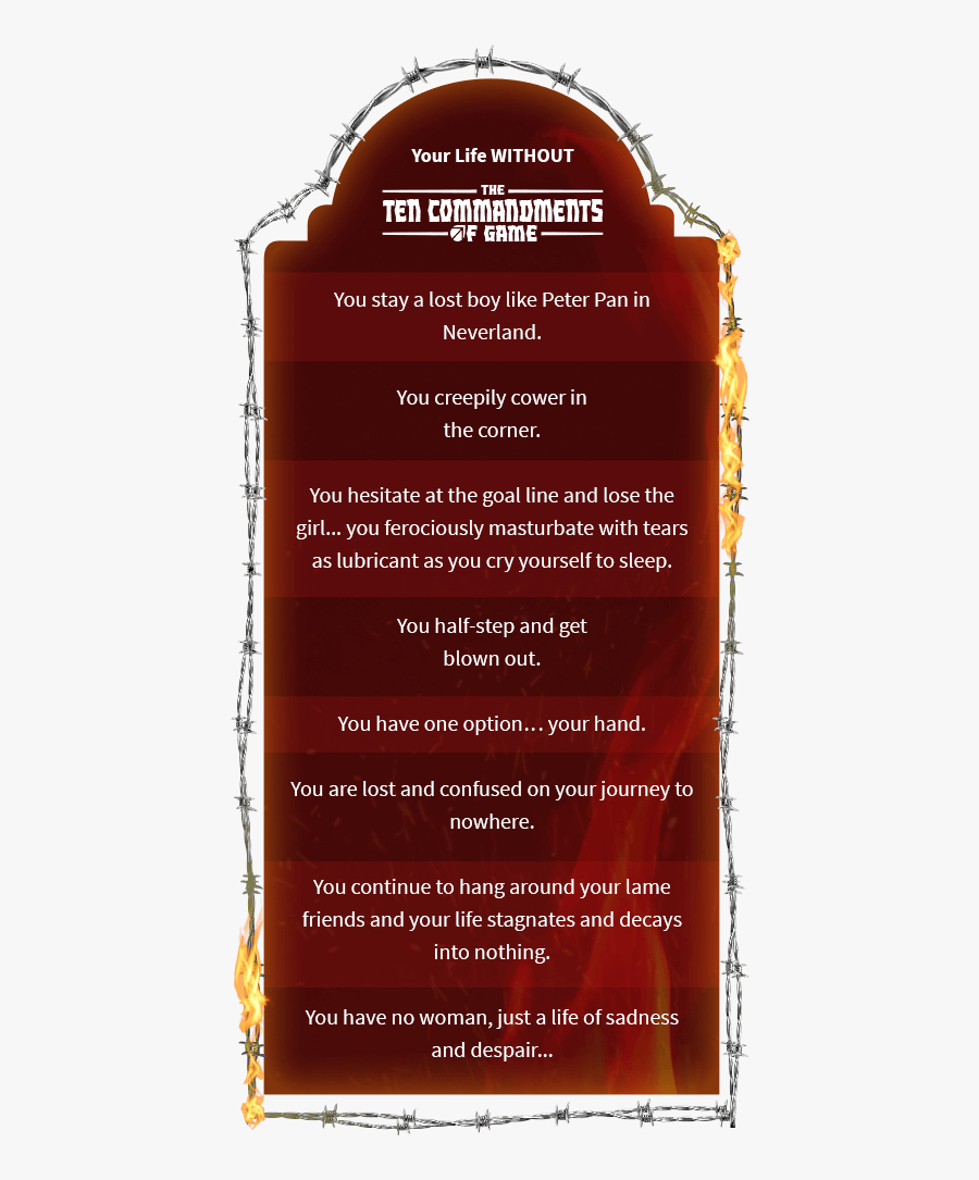 Ten Commandments Of Game Derek, Transparent Clipart