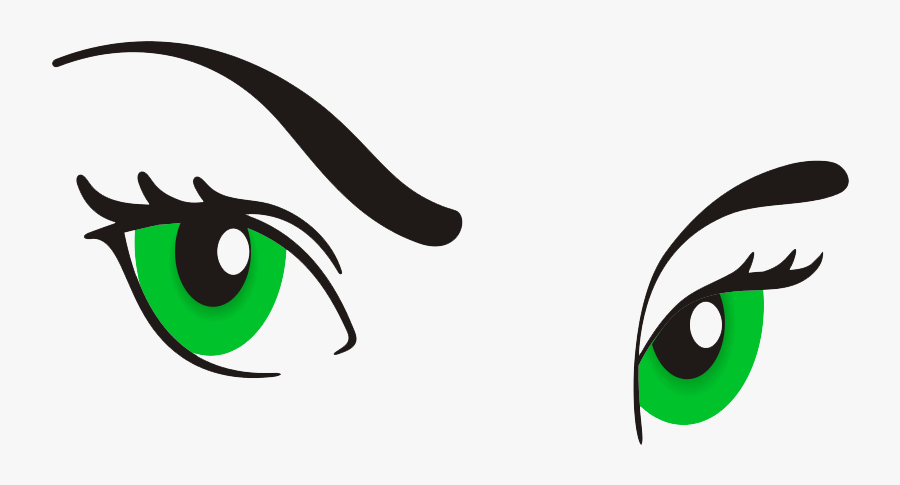 Eyeball Clipart Woman Eye - Cartoon Female Eyes Png, Transparent Clipart