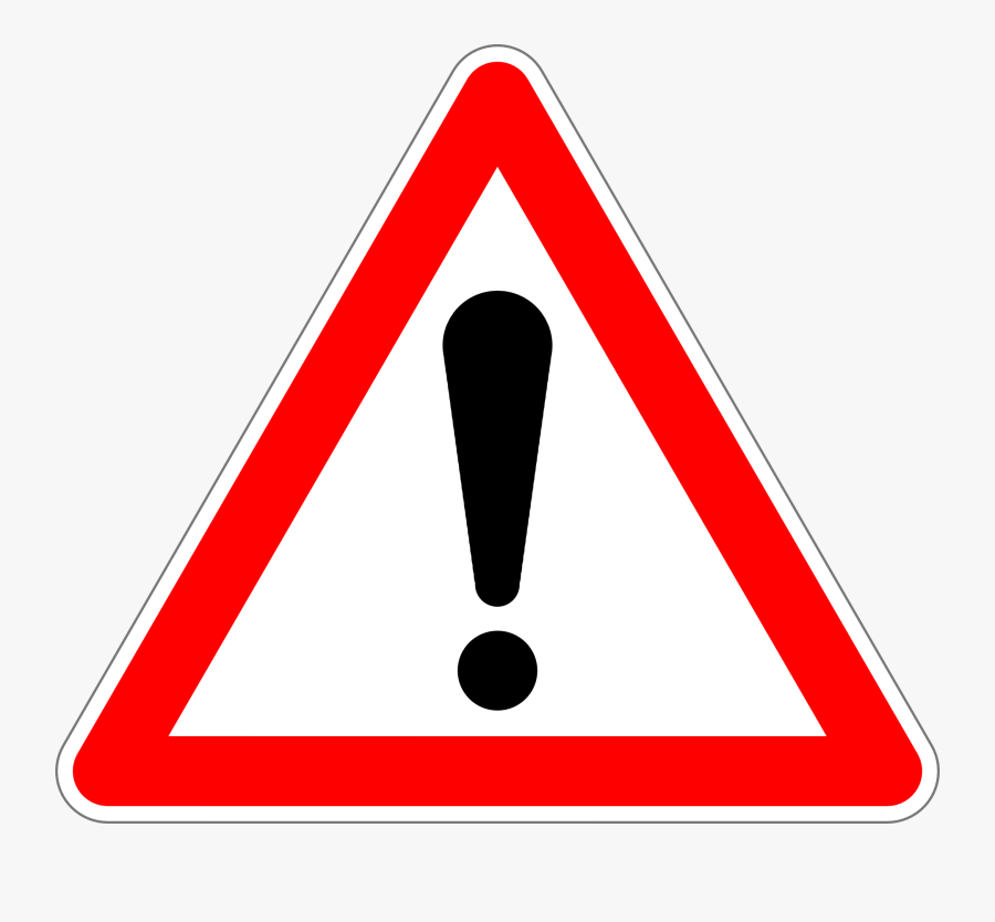 Traffic Sign, Sign, Proceed With Extra Caution - Empty Red Triangle Road Sign, Transparent Clipart