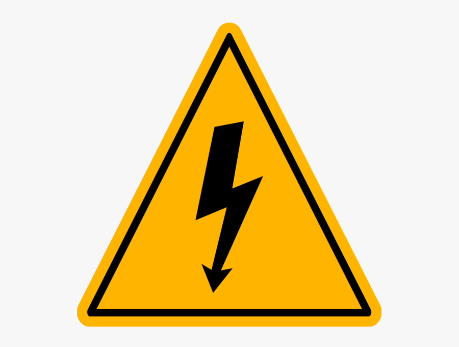 Safety Signs High Voltage, Transparent Clipart