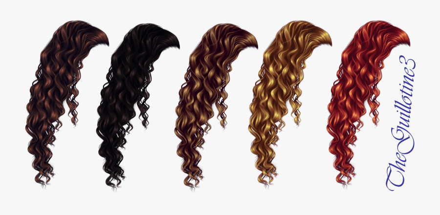 Jpg Transparent Download Clip Hair Curly - Wig Long Curly Png, Transparent Clipart