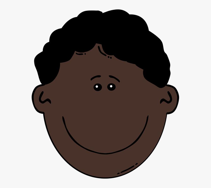 Face Happy Smile Man Male Black Curly Hair Black Hair Cartoon Man Free Transparent Clipart Clipartkey