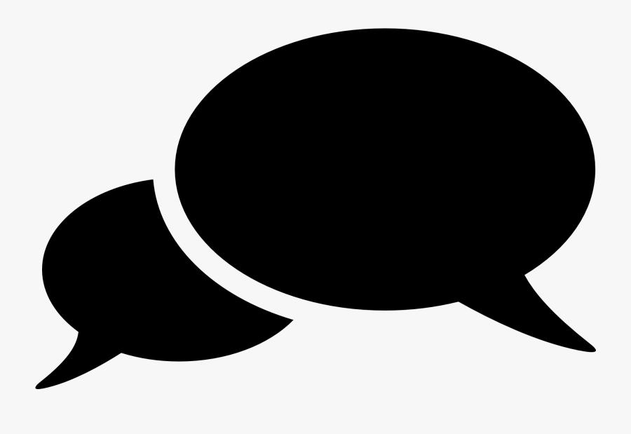 Speech Bubble Png Transparent Image - 2 Speech Bubbles Png, Transparent Clipart
