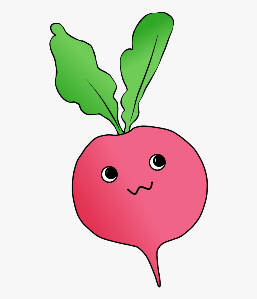 #radish #cute #kawai #emoji #food #freetoedit #ftestickers, Transparent Clipart