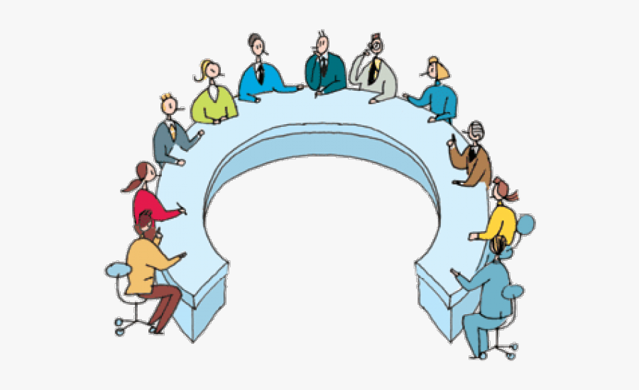 Png Round Table Meeting, Transparent Clipart
