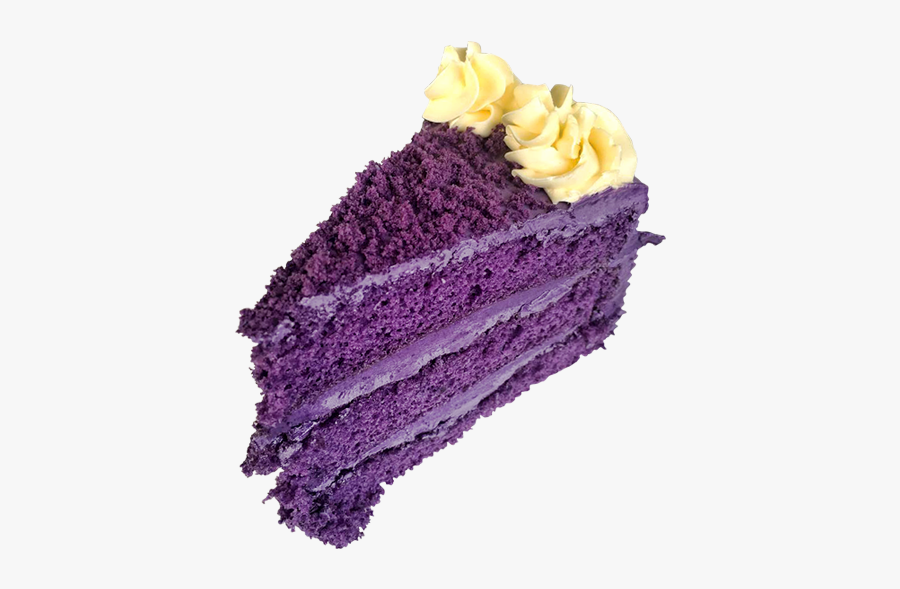26 Ubecake Felicias - Slice Of Ube Cake, Transparent Clipart