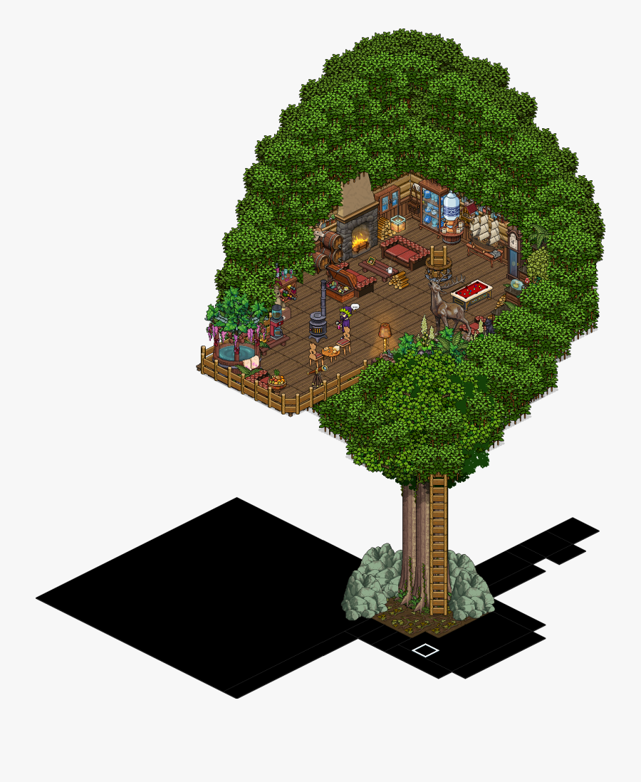 Transparent Tree House Clipart - Habbo Hotel Tree House, Transparent Clipart