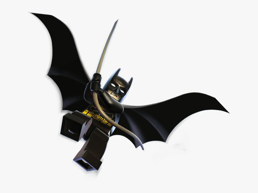 Lego Batman Flying - Lego Batman 2 Dc Super Heroes Png, Transparent Clipart