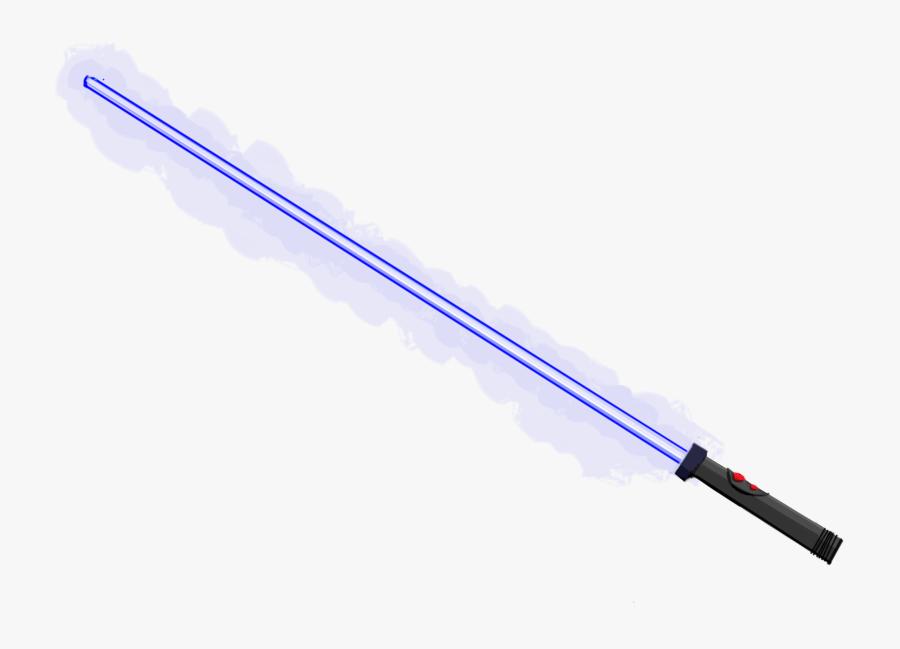 Darth Maul Lightsaber Star Wars Sith Millennium Falcon - Star Wars Cartoon Lightsaber, Transparent Clipart