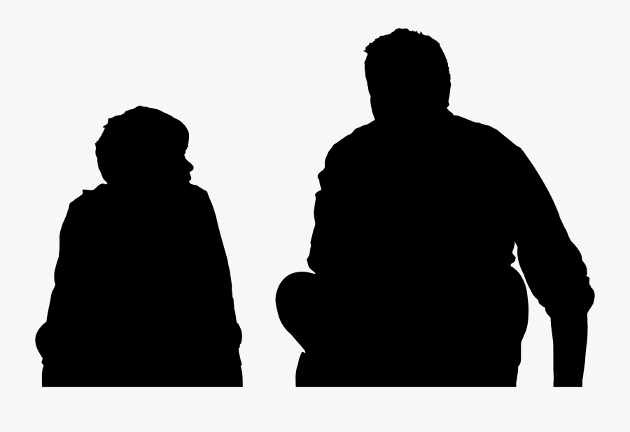 Human Behavior,male,silhouette - Father And Son Png, Transparent Clipart
