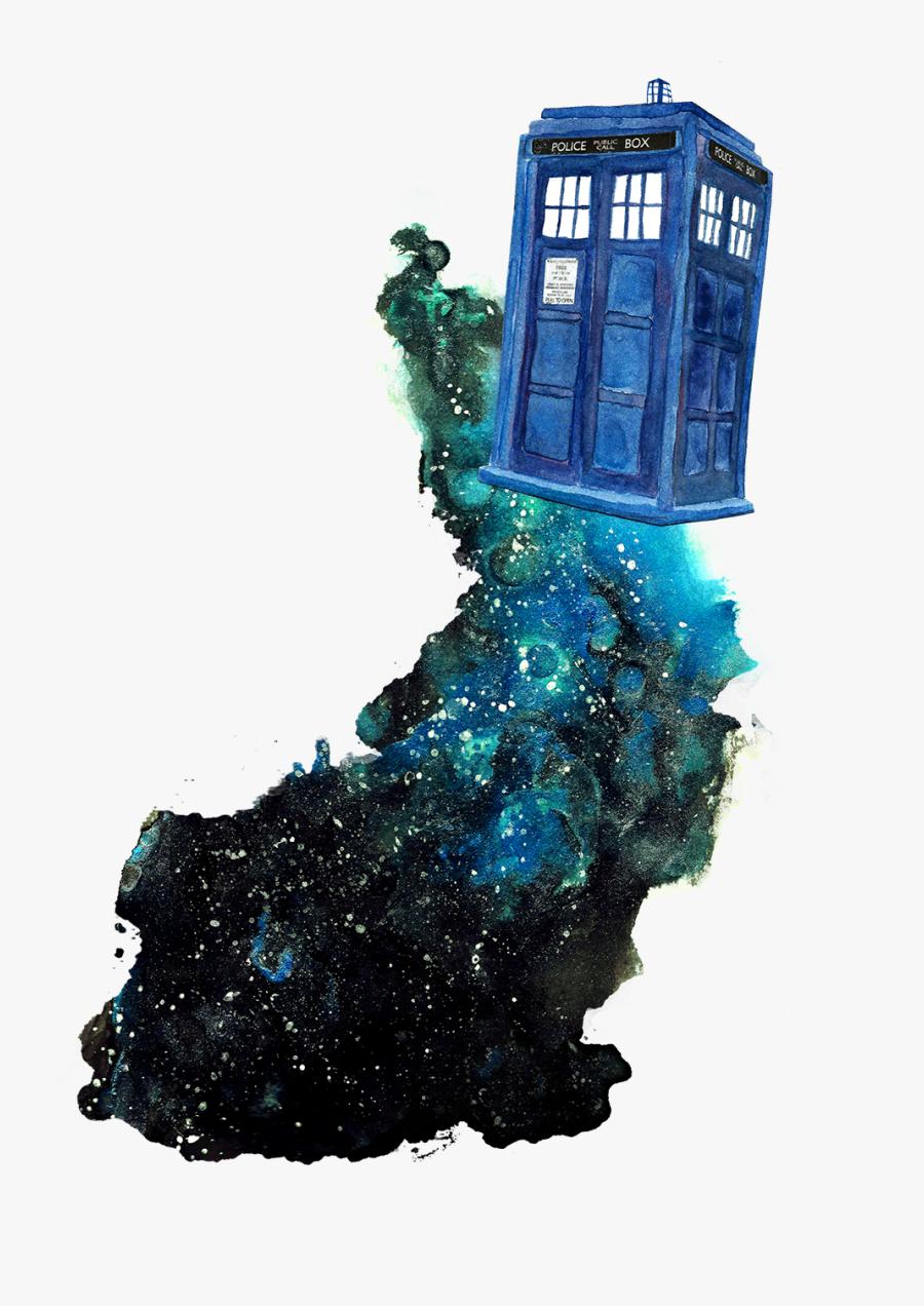 Official Celestielcastiel All Of - Tardis Doctor Who Fanart, Transparent Clipart