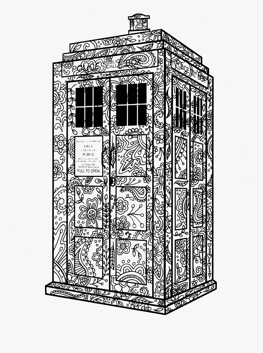 Tenth Doctor Doctor Who Coloring Pages, Transparent Clipart