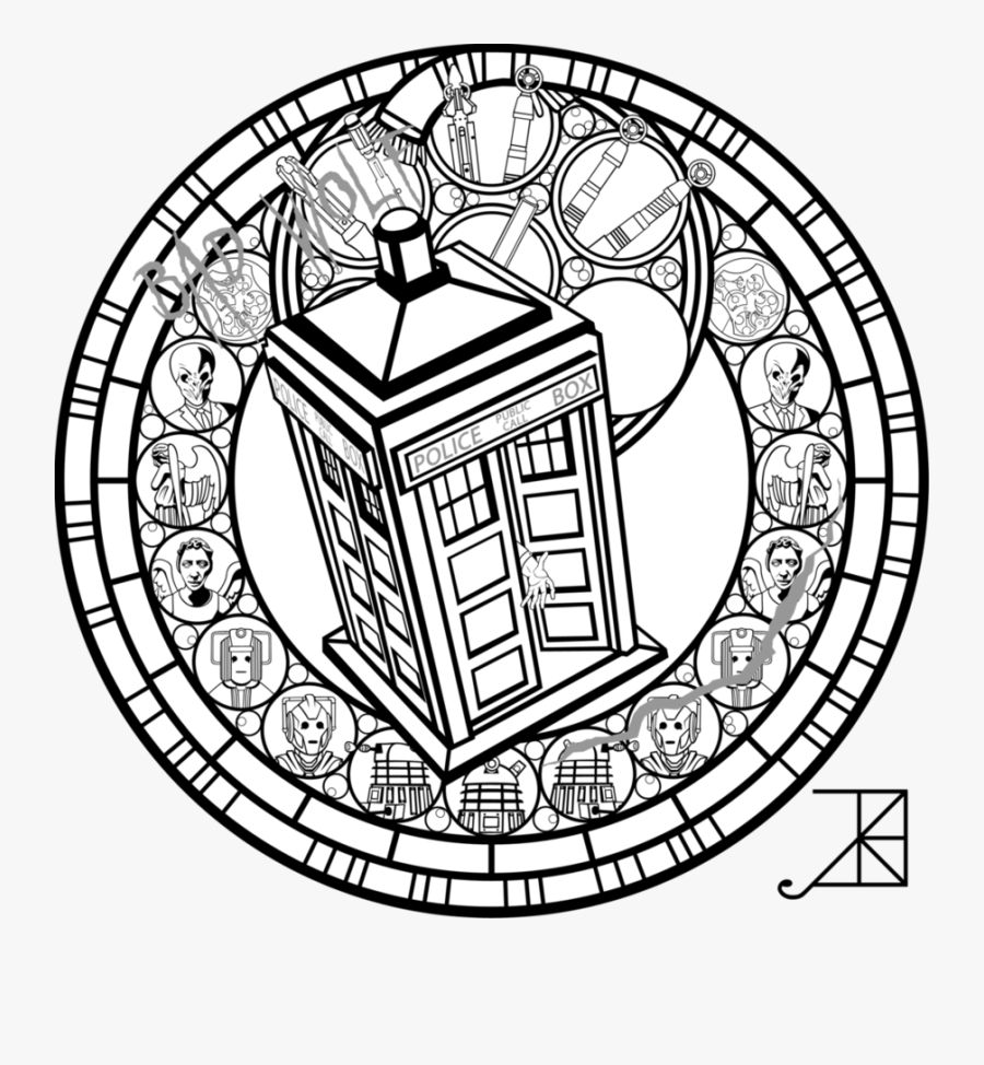 Transparent Dalek Clipart - Dr Who Coloring Pages For Adults, Transparent Clipart