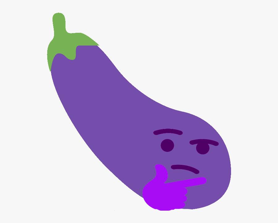 Discord Eggplant Emoji Transparent, Transparent Clipart
