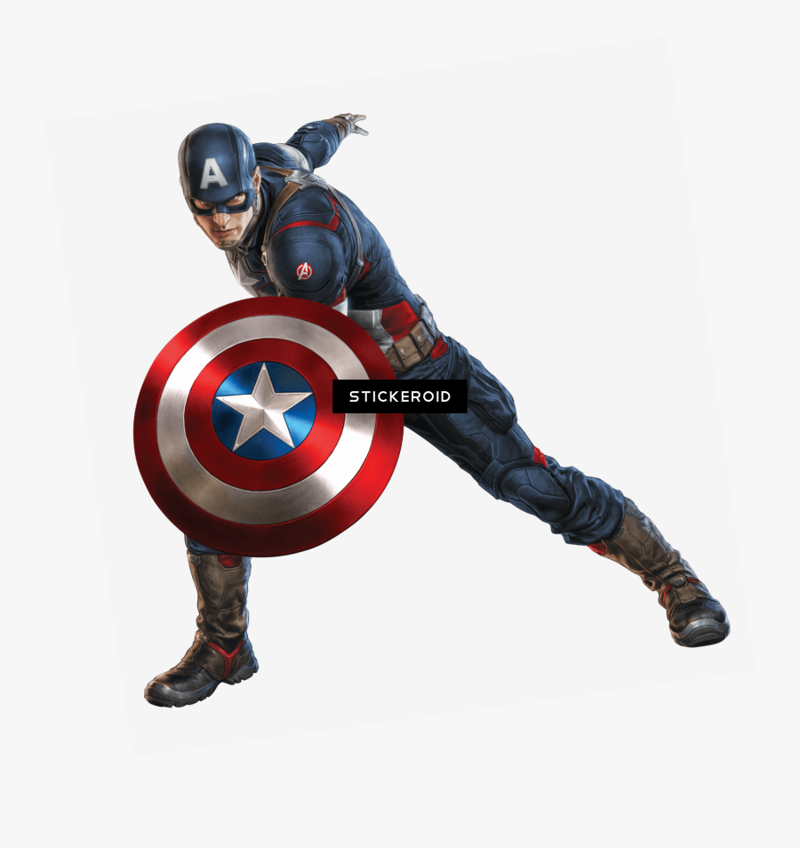 Captain America Shield Left Clipart , Png Download - Marvel Stickers For Whatsapp, Transparent Clipart