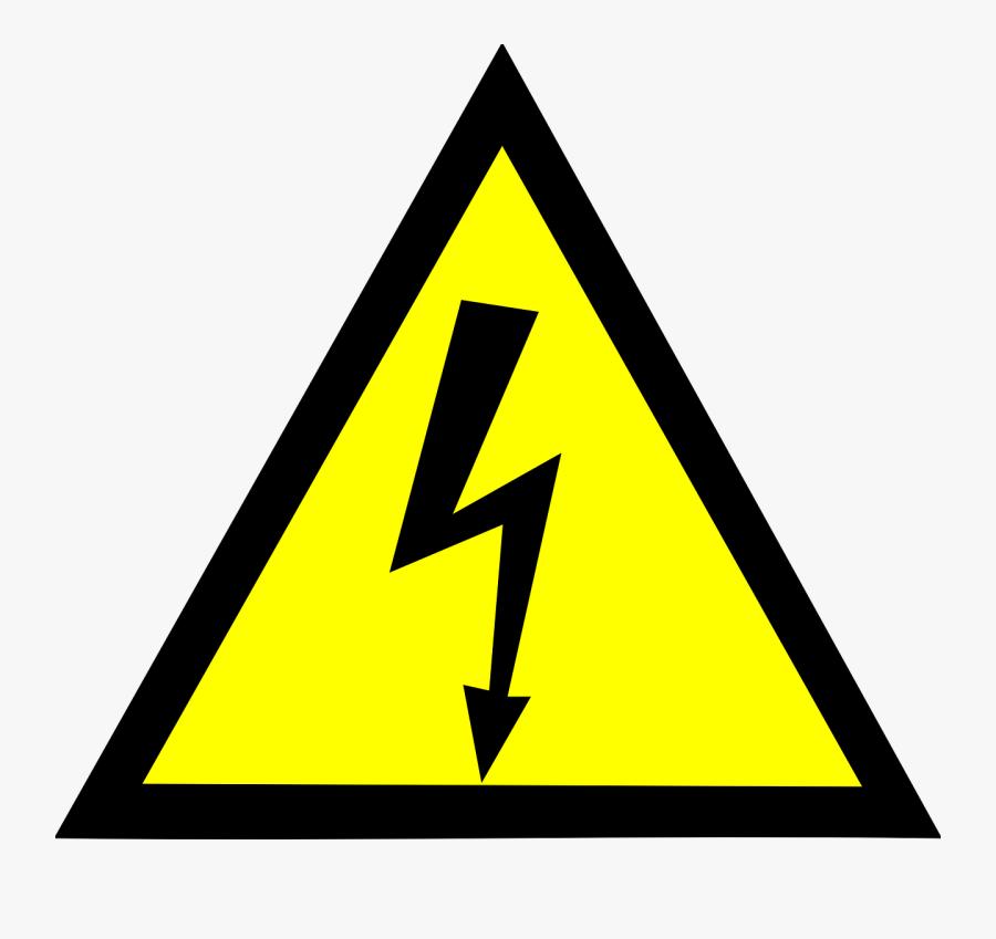 Risk Electricity Hazard Sign High Warning Voltage Clipart - Vector High Voltage Logo, Transparent Clipart