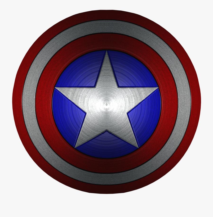 Transparent Captain America Shield Clipart - Captain America Shield 1080p, Transparent Clipart