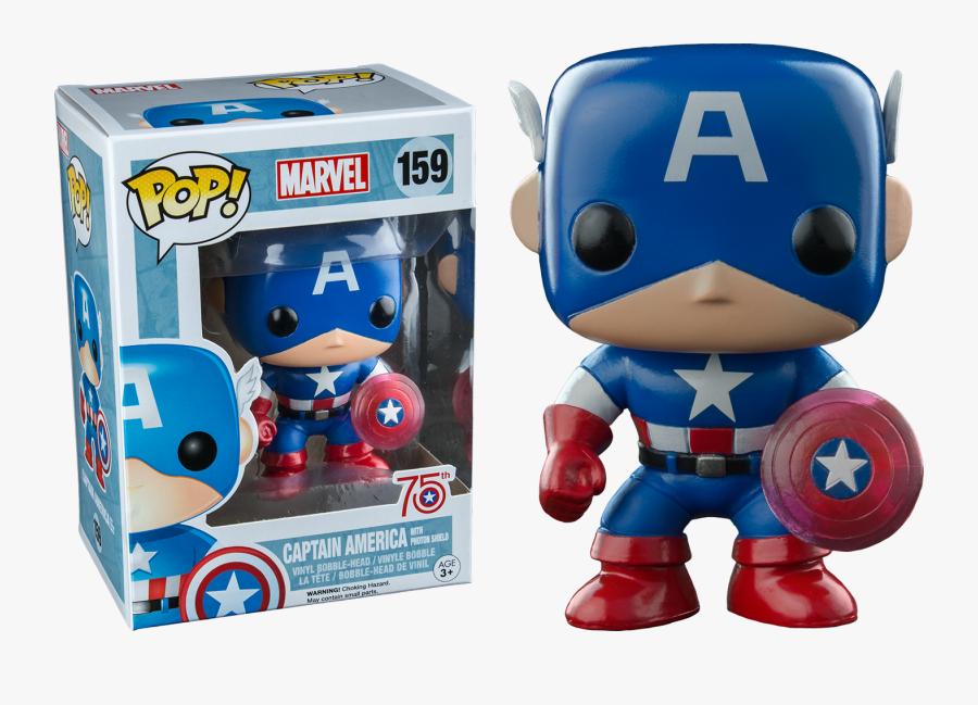Captain America With Photon Shield 75th Anniversary - Marvel Captain America Funko Pop, Transparent Clipart