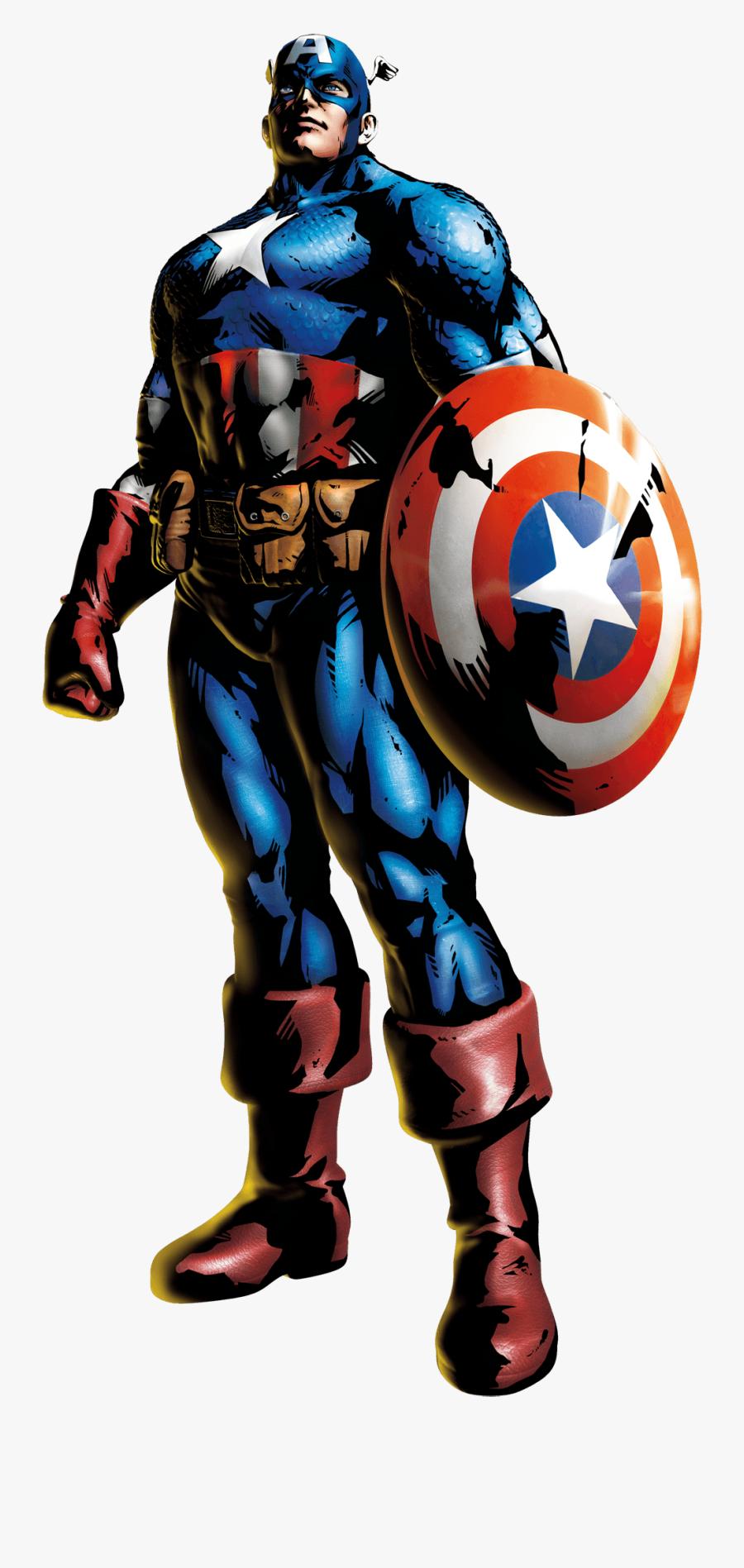 Captain America - Marvel Vs Capcom 3 Captain America, Transparent Clipart