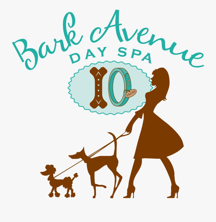 Bark Avenue Pet Grooming & Day Spa - Silueta De Mujer Paseando Un Perro, Transparent Clipart