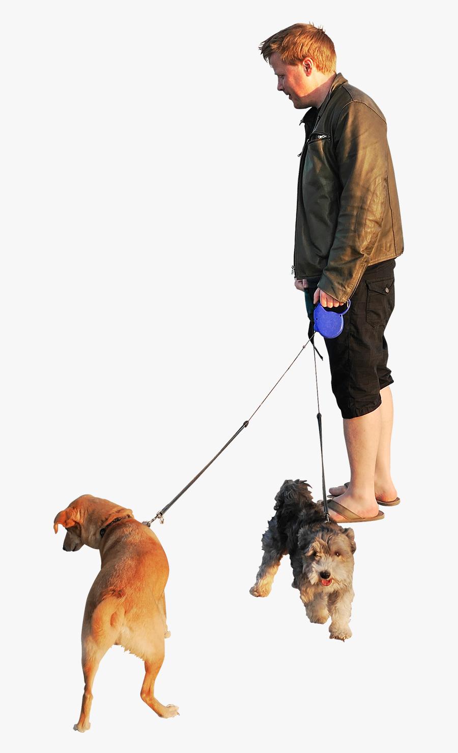 People Walking Dog Png - Person Walking Dog Transparent Background, Transparent Clipart