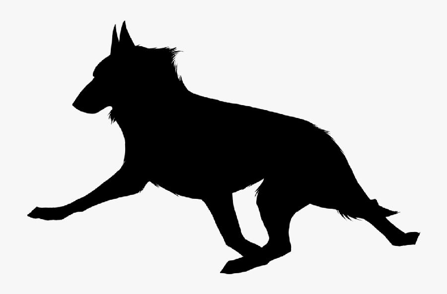 Dog Breed Silhouette Bull Terrier Running Clip Art - Running Dog Silhouette, Transparent Clipart