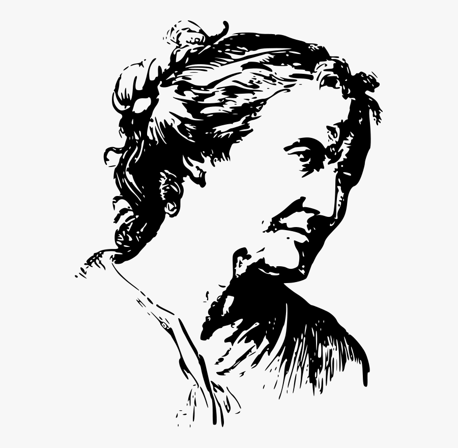 Face Expression Old Woman - Old Woman Line Art, Transparent Clipart