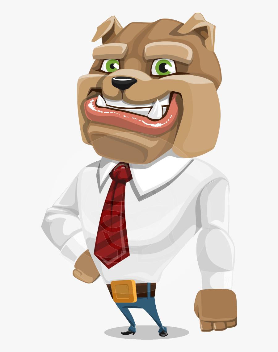 Business Confident Dog Cartoon - Caricature Character Design Vector, Transparent Clipart