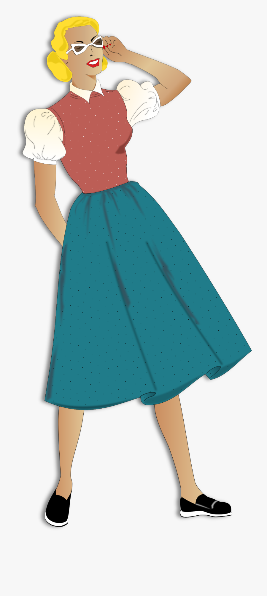 Woman Old Style Clip Arts - Cartoon Old Fashioned Woman, Transparent Clipart