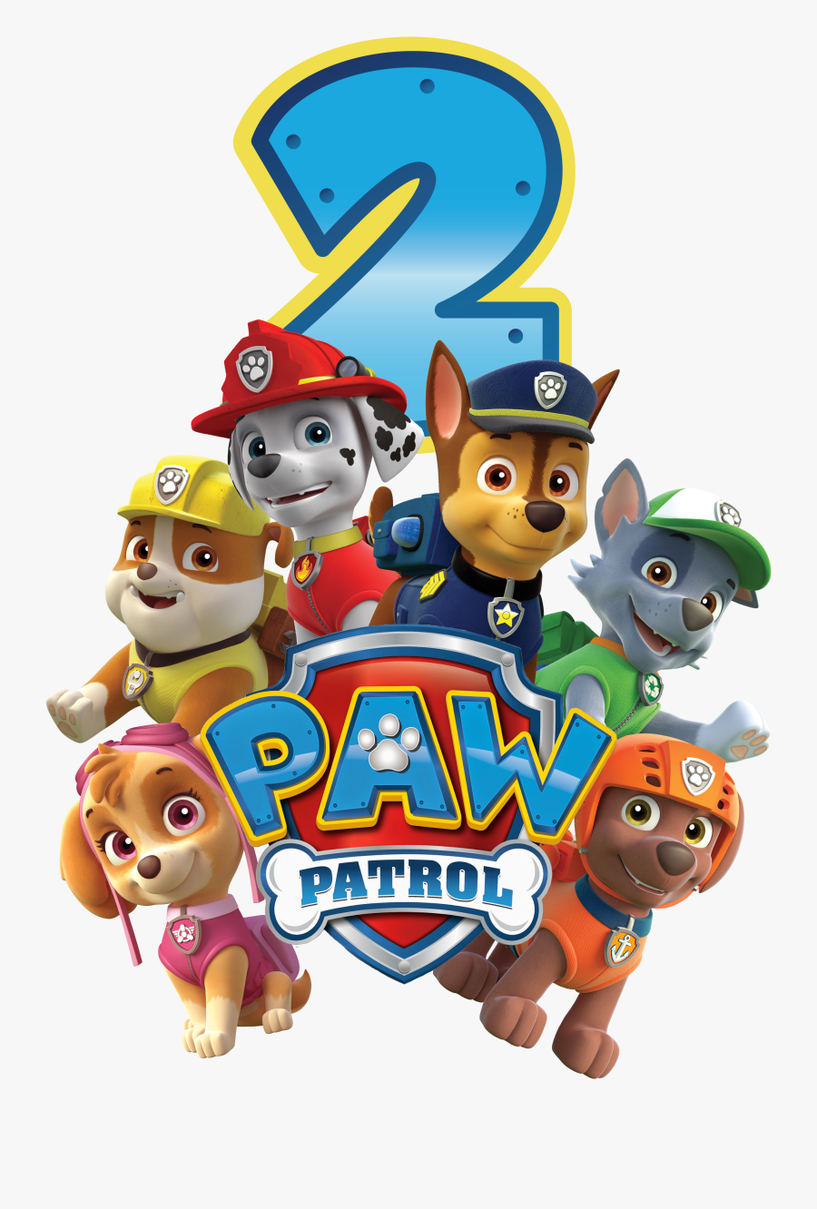Paw Patrol All Character Png Kids - Paw Patrol Birthday Png, Transparent Clipart