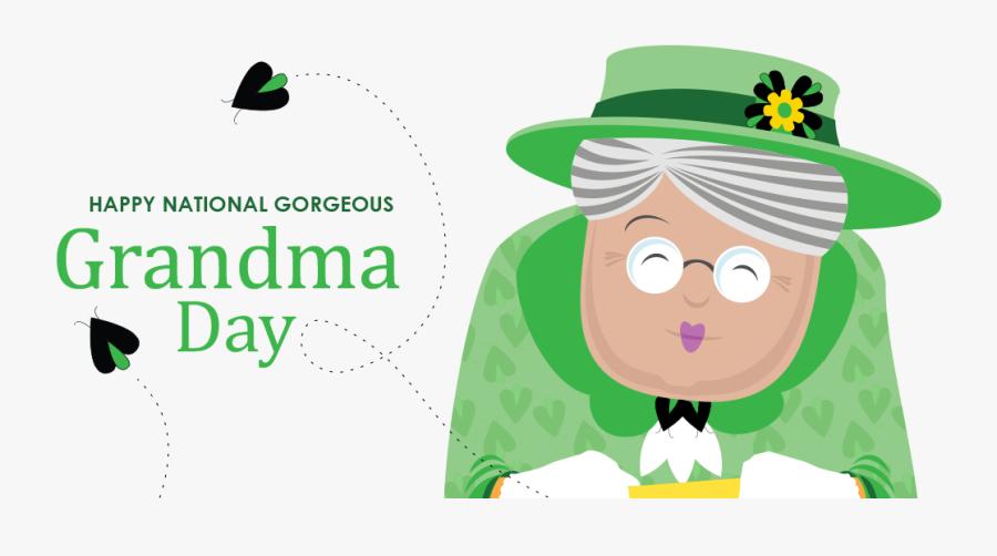 Happy Gorgeous Grandma Day, Transparent Clipart