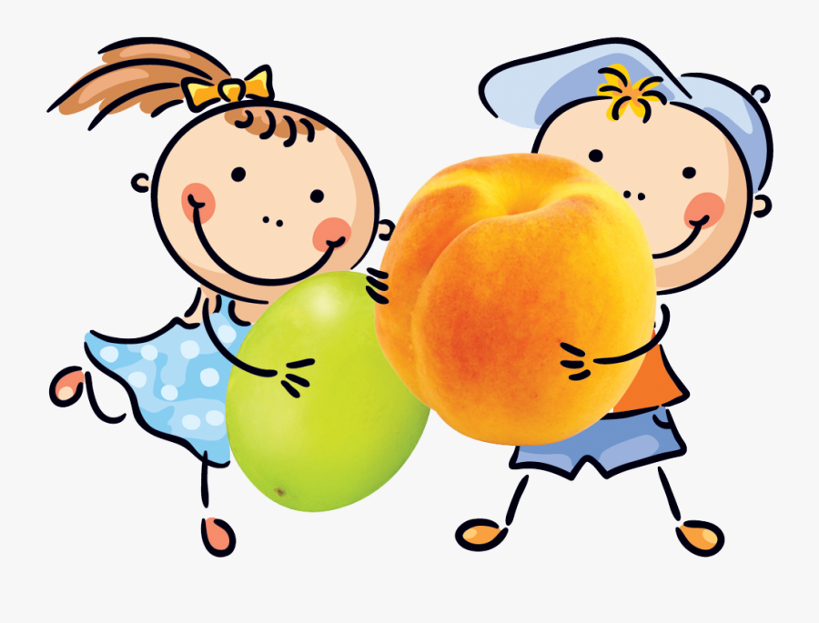 Eat Clipart Child Snack - Cartoon Healthy Snacks Png, Transparent Clipart