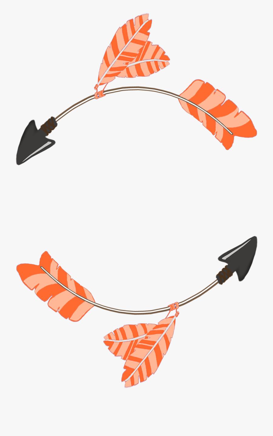 Feather Clipart Tribal Arrow - Feather Arrows Clipart Circle, Transparent Clipart