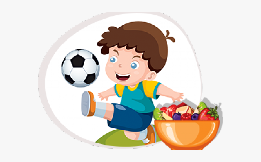 Transparent Snack Clipart - Boy Kicking Ball Cartoon, Transparent Clipart