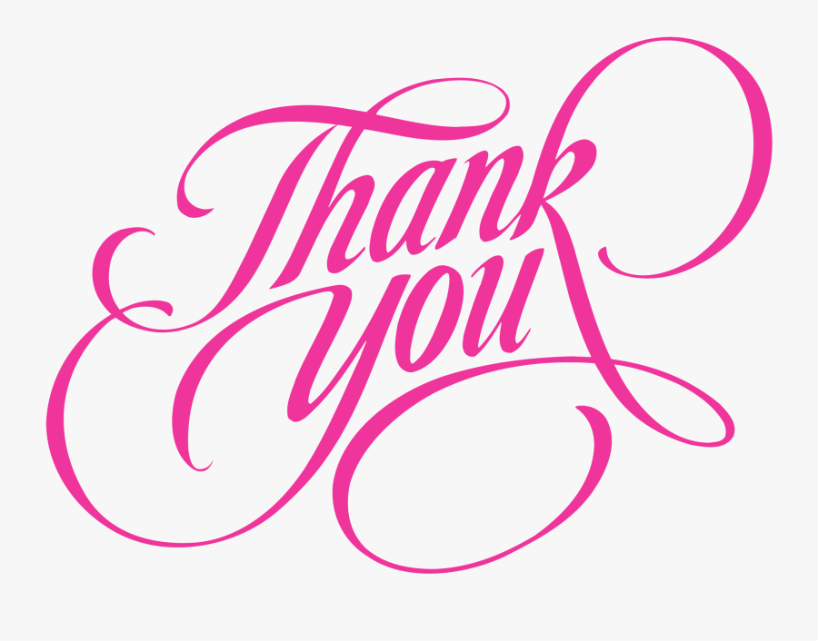 Thank You Pink Png, Transparent Clipart