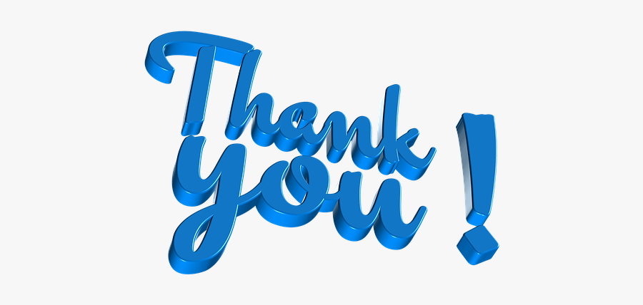 Thank You Letters Very - Thank You For Kerala, Transparent Clipart