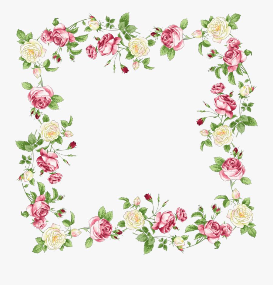 Vintage Flower Border Png - Transparent Background Flower Border, Transparent Clipart