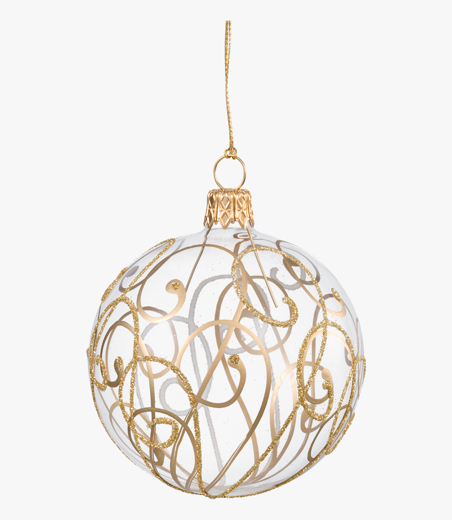 Transparent Png Christmas Decorations - Gold Christmas Tree Ball, Transparent Clipart