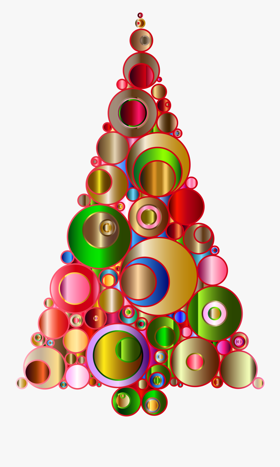 Banner Transparent Download Abstract Christmas Tree - Colourful Christmas Tree Png, Transparent Clipart