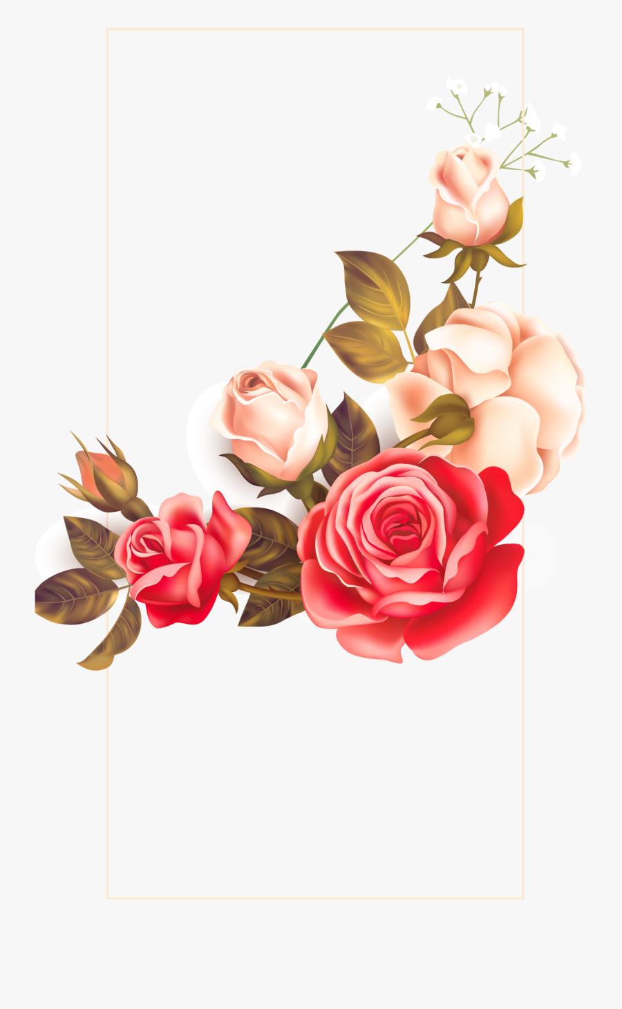 Background Floral Vintage Clipart Images Gallery For - Vintage Flower Border Png, Transparent Clipart