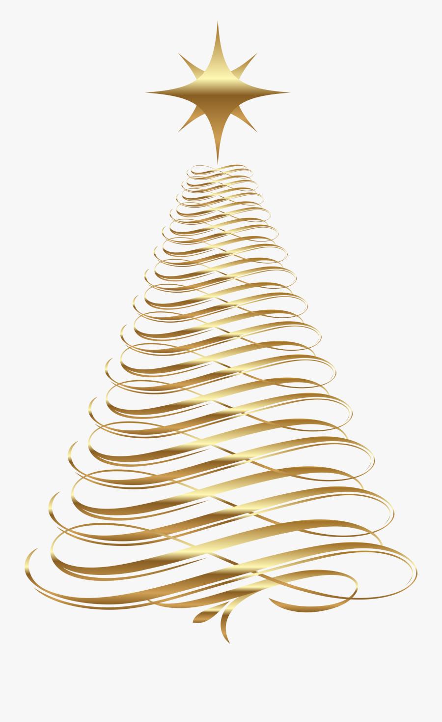 Arbolito De Navidad Png - Gold Christmas Tree Clip Art, Transparent Clipart