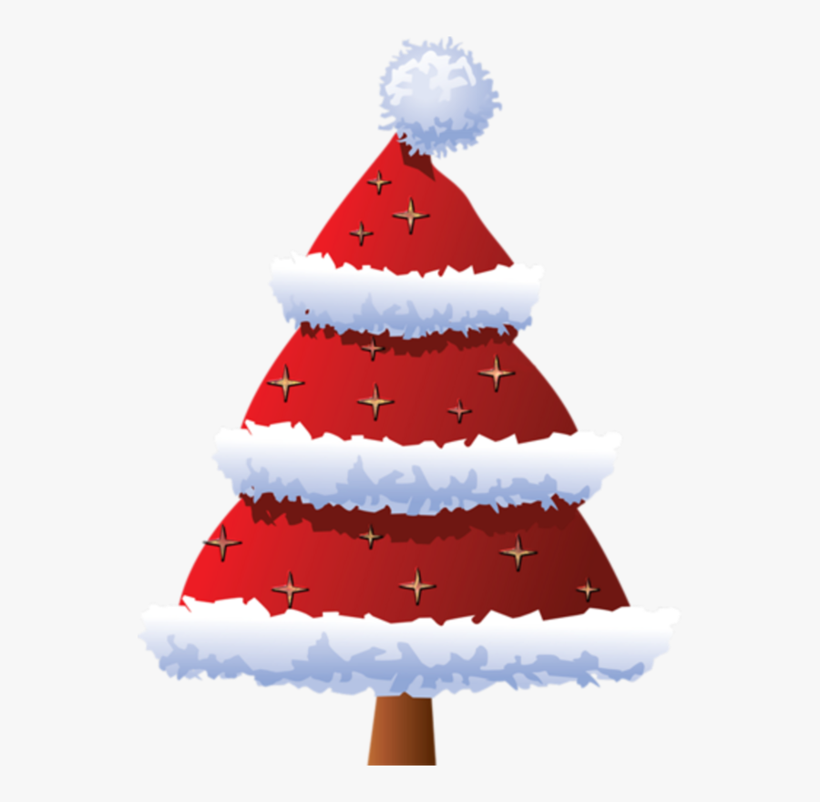Christmas Tree Clipart Red, Transparent Clipart