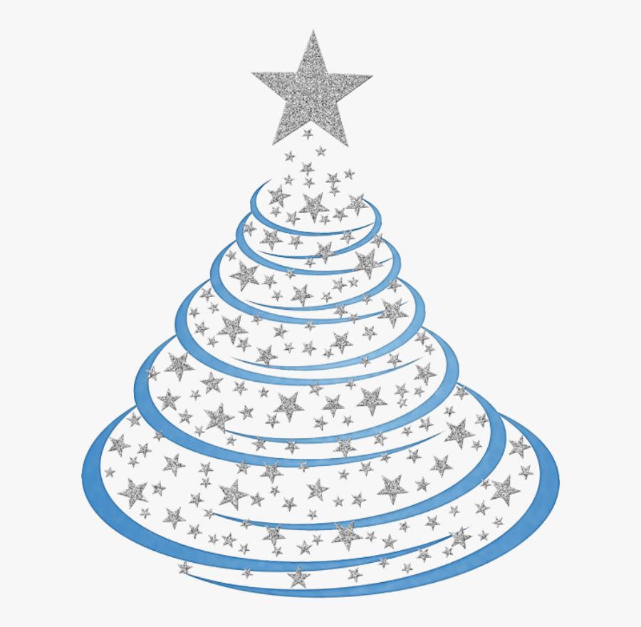 Teal Christmas Tree Clip Art, Transparent Clipart