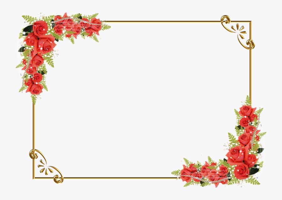 Rose Flower Border Drawing Red Png Image High Quality - Border Design Flowers Background, Transparent Clipart