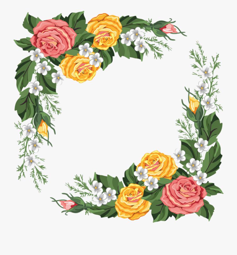 #bloom #flower #frame #border #flowers #white #bouquet - Flower Frame Border Design, Transparent Clipart